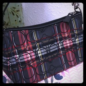 Coach small plaid  handbag purse